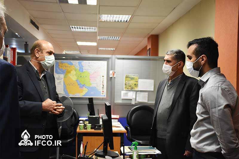 دیدار علی مبینی دهکردی با همکاران بخش حمل ونقل شرکت بهینه سازی  به مناسبت روز حمل و نقل